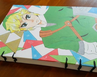 A5 Original Drawing Legend of Zelda Link Diary/Sketchbook
