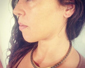 The Indira - Tribal Choker -Brass Choker - Ethnic Jewelry -Boho Statement Jewerly- Tribal Jewelry