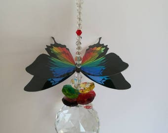 Rainbow butterfly sun catcher