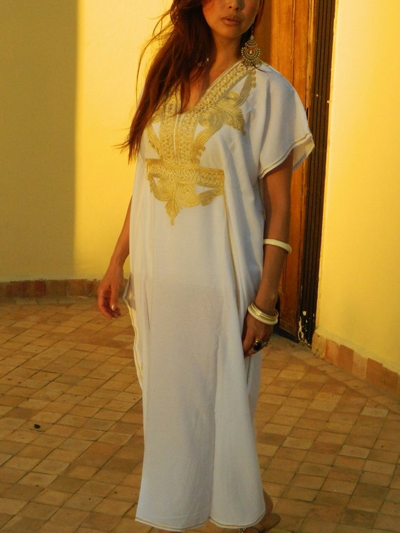 Wedding Caftan Kaftan Marrakech Style- perfect for brides gift, bridesmaids gift, beach weddings, honeymoon caftans, Ramadan, Eid