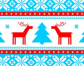 Place mat ORIGINAL mountain DECO - style cottage - reindeers from Lapland 1 home - classic.