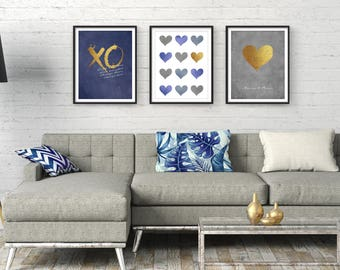 Living Room Wall Art, Large Wall Art, Modern Art, Wall Art, Living Room Art,  Bedroom Wall Art, Art Print, Set Of 3, Contemporary Art, Giclee
