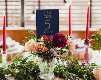 Autumn Flora & Fauna Wedding Table Numbers • Printed front and reverse • Pack of 10