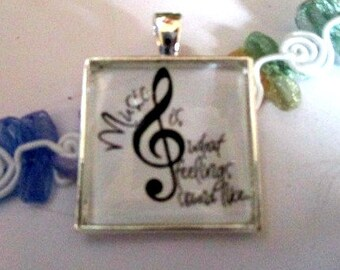 Music Pendant or Scarf Slide, scarf jewelry, scarf ring