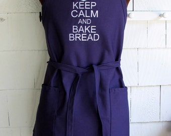 Keep Calm And Bake Bread Apron - Bread Baking Apron