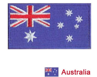 Small Australia Flag Iron On Patch 2.5 x 1.5 inch Free Shipping
