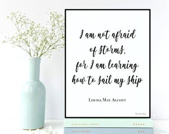 Louisa May Alcott quote, Inspirational quote, Celebrity quote, Inspirational wall art, Poster quote Louisa May Alcott, Quote printable
