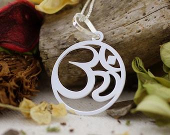 Sterling Silver Ohm Symbol Necklace, Silver Ohm Necklace, Ohm Necklace, Ohm Jewelry, Om Necklace, Namaste, Yoga Jewelry, Ohm Pendant, Yoga
