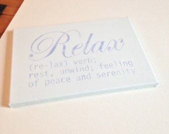 """Relax 10""""x14' wall canvas"""
