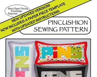 Pincushion Sewing Pattern - PDF File Sewing Pattern - Crushed Walnut Shell Filling - Quilting Cotton