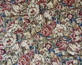 Vintage Floral Tapestry Fabric Pieces