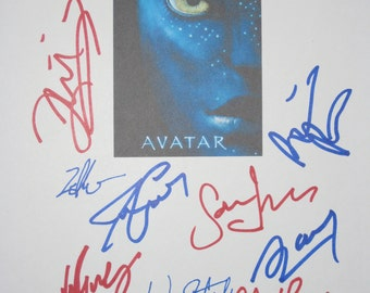 Avatar Signed Script Film Movie Screenplay X9 James Cameron Sigourney Weaver Sam Worthington Zoe Saldana Stephen Lang Michelle Rodriguez