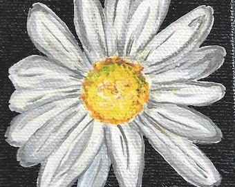 """3x3"""" Acrylic Painting Daisy w/Easel"""