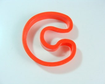 Large Plastic Letter C Cookie Cutter