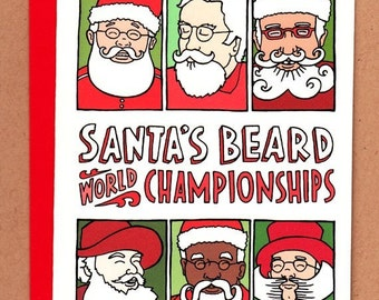 Santa's Beard Holiday Card