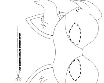 Pokemon Starters Part 2, Coloring Page Party Masks ( Braixen , Fennekin ,  Torchic,