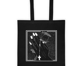 Prayer Hands Tattoo Inspired Artwork Tote bag