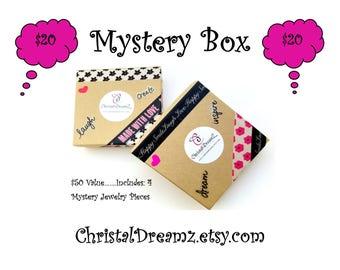 Mystery Box -  Jewelry Grab Bag - Beaded Jewelry - Surprise Jewelry Box - Hoop Earrings - Jewelry Box - Mystery Grab Bag Box -ChristalDreamz
