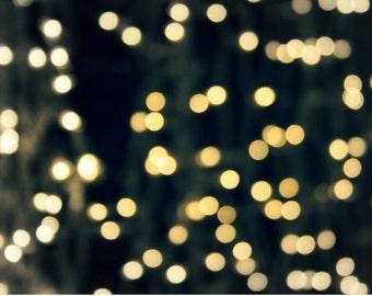 Christmas lights photography christmas art christmas home decor gift lights photo christmas light wall art blue christmas MERRY AND BRIGHT