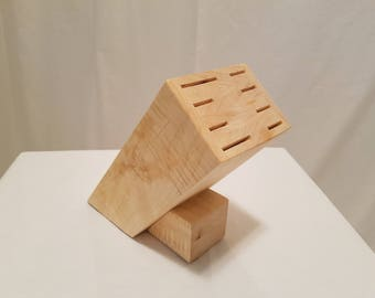 Curly Maple Knife Block-Knife Holder-Kitchen-Chef