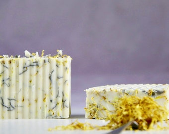 Natural Handmade Soap. Refreshing Body Soap With Rosemary Essential Oil.