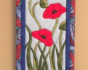 Poppies fabric picture