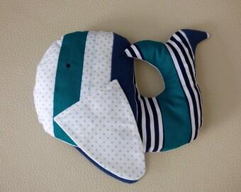 Plush whale Eglantine/Whale plush fabric