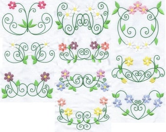 Simply Daisies - INSTANT DOWNLOAD - Machine Embroidery - 4x4 hoop AND 5x7 hoop
