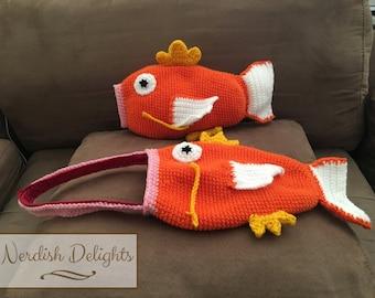 Crochet pattern for Magikarp Pokemon Go handbag or plush toy