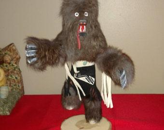 "12"" Tall Kachina doll ""Bear"" SIGNED"