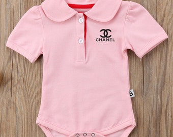 CC inspired Embroidery baby girl Bodysuit