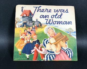 Pop Up Nursery Rhyme Book Card~~Vintage from 1930~~There Was an Old Woman~~Geraldine Clyne NY
