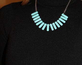 Marblized turquoise necklace