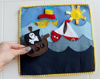 Felt Boats Things that Go Quiet Book PATTERN