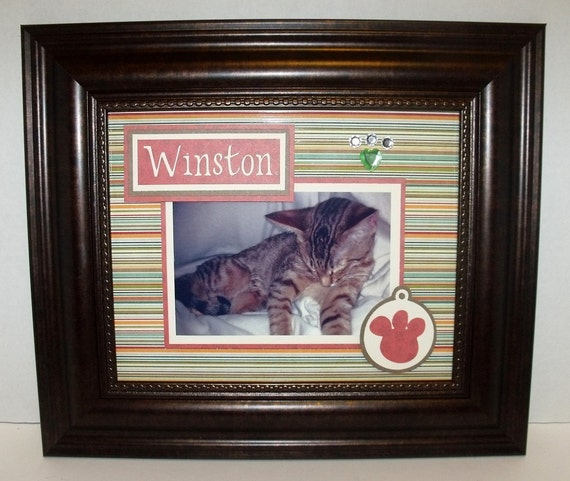 Personalized Cat or Dog Picture Frame Deluxe 8x10 Frame