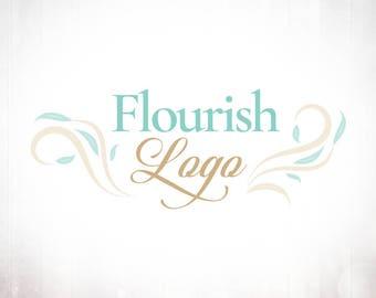 Premade Logo Design • Flourish Spray