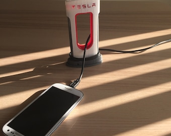 Tesla Supercharger Phone Charger - 3D Printed