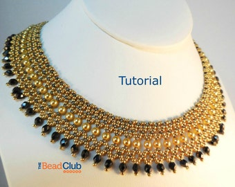 Beaded Necklace Patterns - Seed Bead Tutorials - Bead Netting Pattern - Beading Tutorials and Patterns - Beadweaving Tutorial - Regal Collar
