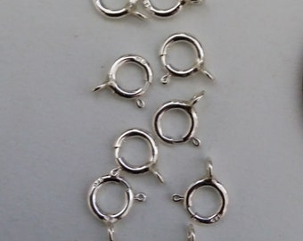 5 mm Sterling Spring Rings - 10 pieces