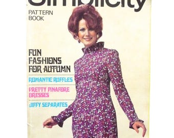 Vintage Simplicity Pattern Book 1971 Autumn/Winter Edition