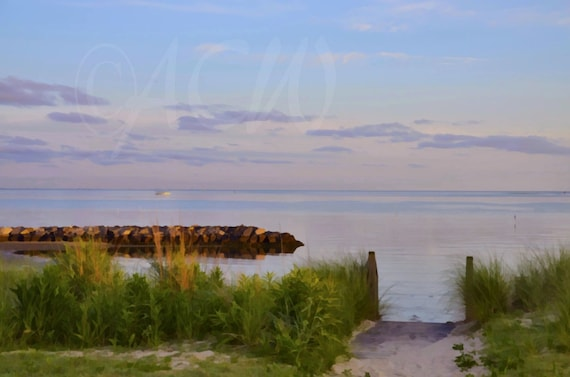 Pathway to the beach on Cape Charles in Virginia (canvas)