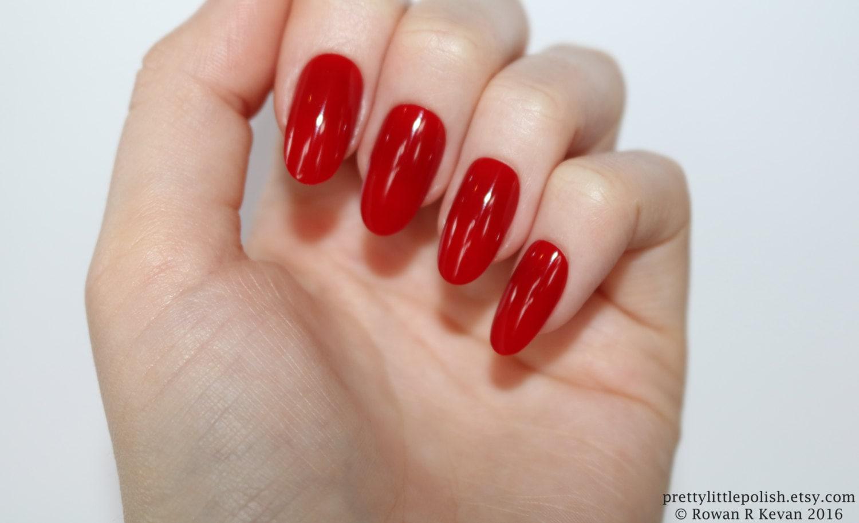 Red oval nails Nail designs Nail art Nails Stiletto nails