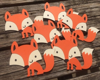 Woodland Fox Die Cuts - Fox Party, Woodland Die Cuts, Woodland Baby Shower, Woodland Party, DIY, Crafts