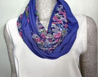 Cashmere Silk Scarf - Purple Abstract Floral by VIDA VIDA ZRRKwWFbA