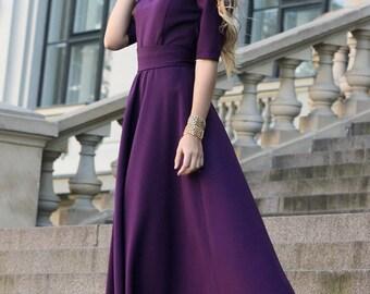 Purple Dress, Romantic Dress, Floor Length Dress, Bridesmaid Dress, Ball Gown Dress, Prom Dress, Minimalist Fashion, Loose Fit Dress