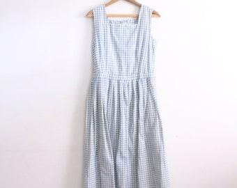 Minimal Gingham 90s Maxi Dress