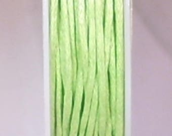 1 METER OF COTTON WAXED 1 MM APPLE GREEN