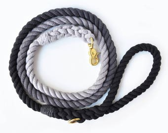 Black Ombré Rope Dog Leash