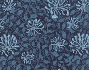 Best of Morris - Honeysuckle in Indigo by Barbara Brackman for Moda Fabrics