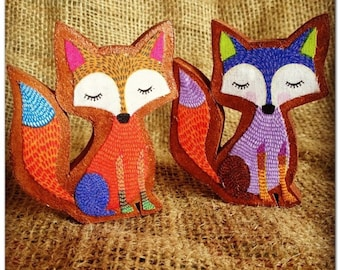 Fox Decoration. Free Standing Fox Wooden Decoration.